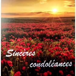"Carte ""Sincères condoléances"""