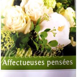 """Carte """"Affectueuses Pensées"""""""