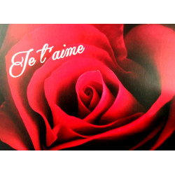 """Carte """"Je t'aime"""""""