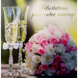 "Carte ""Félicitation"" - Mariage"