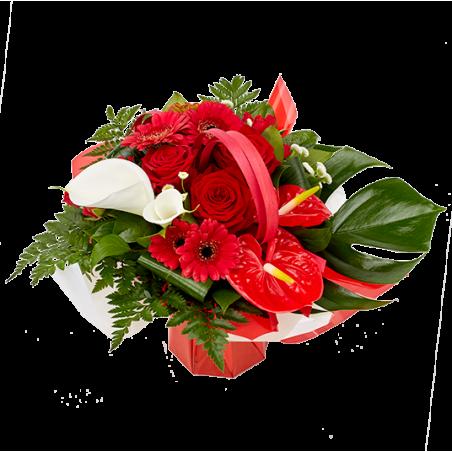 """Attachante - """"Bouquet Rouge Coquelicot"""""""